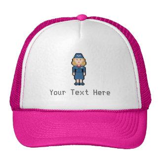 Custom Text Flight Attendant Cap