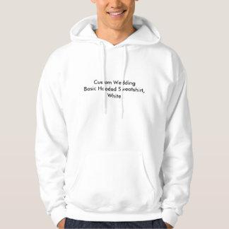 Custom Wedding Basic Hooded Sweatshirt, White Hooded Pullover