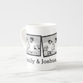 Custom wedding photo mug Save the date Bone China Mug