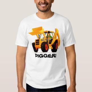 Custom Yellow Construction Digger Tee Shirt