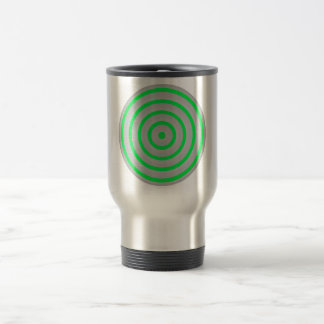 Customisable Colourful Concentric Circle Design Stainless Steel Travel Mug