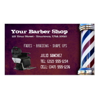 CUSTOMIZABLE Barber Shop BC Pack Of Standard Business Cards