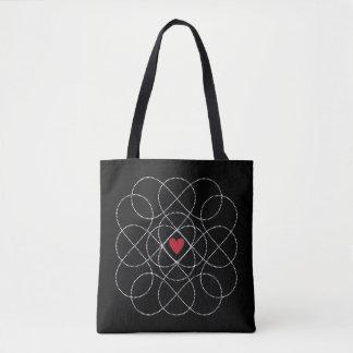 Customizable Black and White Infiniti Love Tote Bag