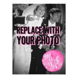 "Customizable ""Mr. & Mrs."" Wedding Photo Poster"