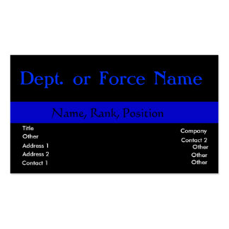 Customize this ThinBlueLine Pack Of Standard Business Cards