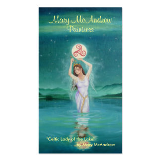 Customizeable Business Card / Celtic Lady of Lake
