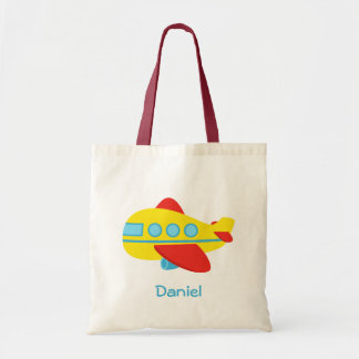Cute and Colourful Passenger Aeroplane Budget Tote Bag