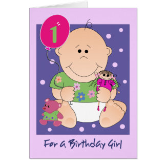 Cute Baby Birthday card with Text