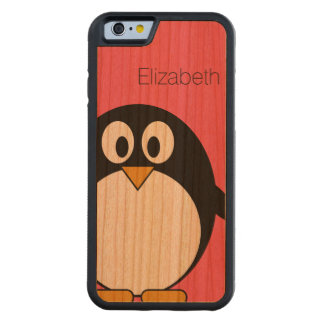Cute Cartoon Penguin Illustration with Custom Name Cherry iPhone 6 Bumper