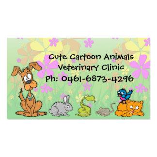 Cute Cartoon Pets Veterinary Pack Of Standard Business Cards