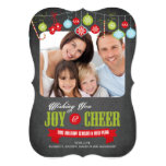 Cute Chalkboard Family Christmas Photo Card 13 Cm X 18 Cm Invitation Card