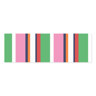 Cute Colorful Stripes Mini Profile Card Pack Of Skinny Business Cards