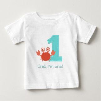 Cute Crab, Crab I'm One, First Birthday T Shirt