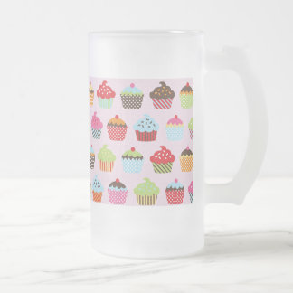 Cute Cupcakes Frosted Glass Mug