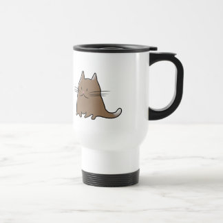 Cute Fat Little Chubby Kitty Cat Stainless Steel Travel Mug