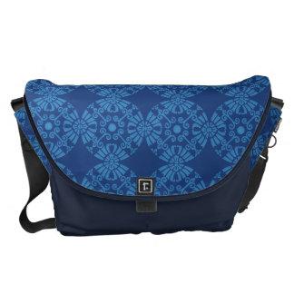 Cute Flower Medallion Pattern In Blue Commuter Bags