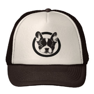 Cute French Bulldog Dog Face Cap