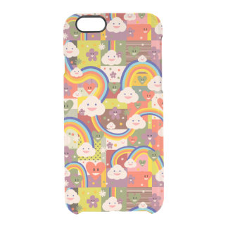 Cute funky harajuku illustration pattern clear iPhone 6/6S case