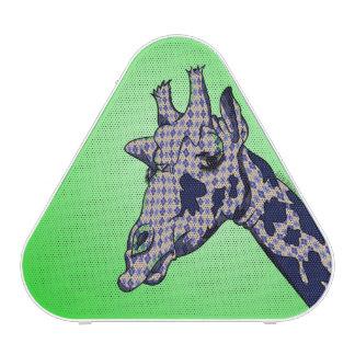 Cute Giraffe with blue patterend skin