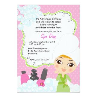 Cute Girls Spa Day Birthday Invitation