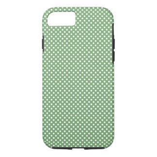 Cute Girly Polka Dots Green iPhone 7 Case