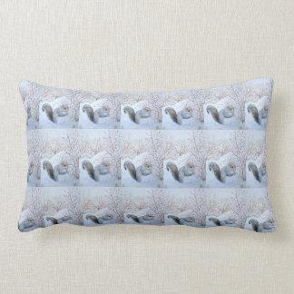 cute gray squirrel snow scene wildlife art throw cushions