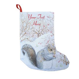 cute gray squirrel snow scene wildlife christmas