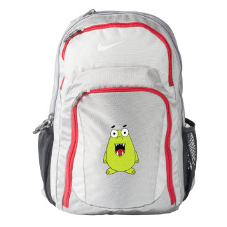 Cute green monster backpack