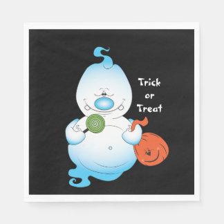 Cute Halloween Ghost Cartoon Paper Serviettes