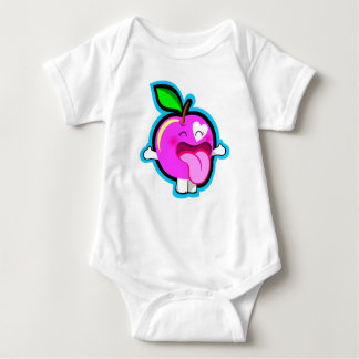 Cute happy pink apple for baby t-shirt