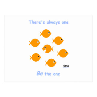 """Cute Inspirational """"There's Always One"""" Cartoon Postcard"""
