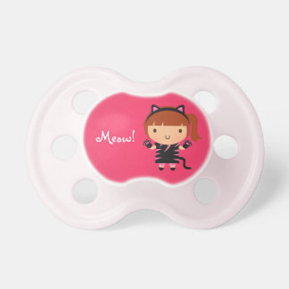 Cute Kitty Cat Girl Meow Baby Halloween Baby Pacifiers