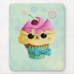 Cute Kitty Cupcake Mouse Pad