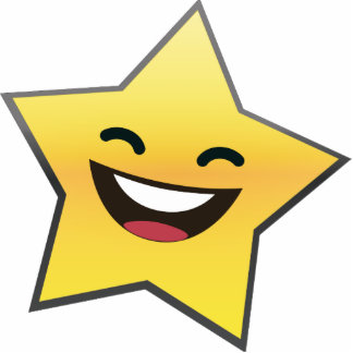 Cute Laughing Smiling Star Power Standing Photo Sculpture