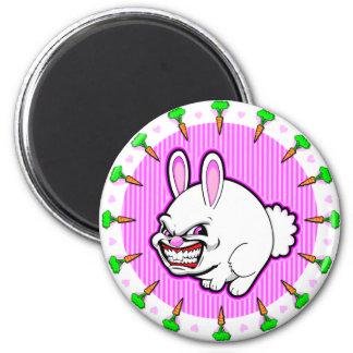 Cute little Pink Apple bunny 6 Cm Round Magnet