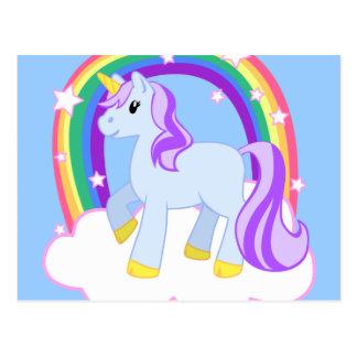 Cute Magical Unicorn with rainbow (Customizable!) Postcard