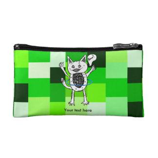 Cute Monster Roar Green Pattern Hula Hoop Cosmetic Bags