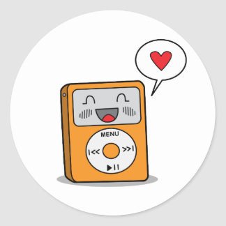 Cute MP3 Player Stickers