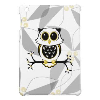 Cute Owl and Leaves iPad Mini Case