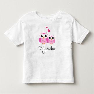 Cute owls big sister little sister cartoon t-shirts