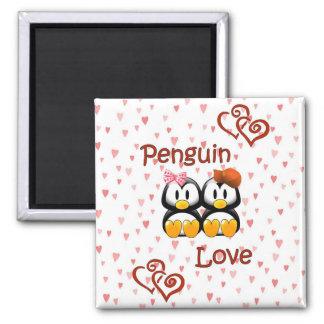 Cute Penguin Love Hearts  Magnet 2