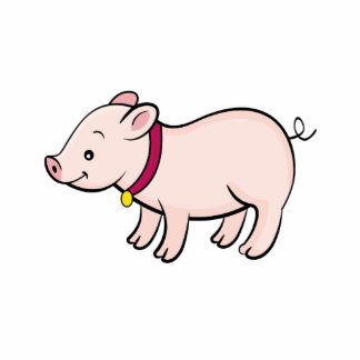 Cute Pig Photo Sculpture