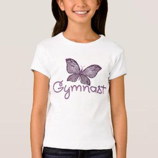 Cute Pink Butterfly Gymnast Tshirts