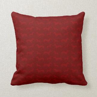 Cute red dachshund pattern throw cushions