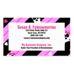 Cute Skulls Pink and Black Business Cards