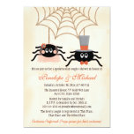 Cute Spider Halloween Couples Shower 13 Cm X 18 Cm Invitation Card