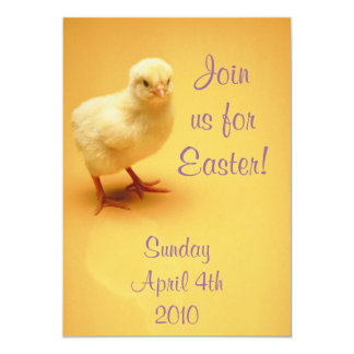 Cute Yellow Chick Easter  Invitations