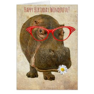 Cutest Hippo Greeting Card! Greeting Card