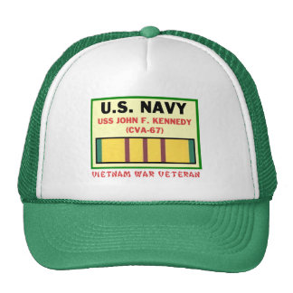 CVA-67 JOHN F. KENNEDY VIETNAM WAR VET CAP