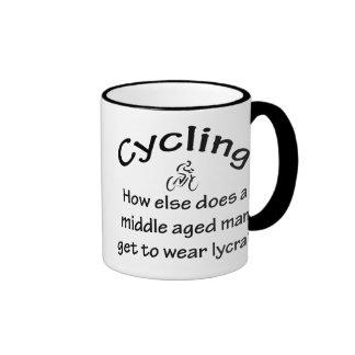 Cycling Man Ringer Mug
